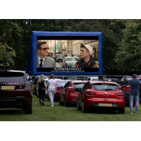Wholesale 8m Long Outdoor Inflatable Movie Screen For Drive In Car from china suppliers