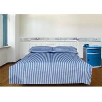Wholesale Blue 40S Stripe And 100% Cotton 220TC Hospital Bed Sheet / Hotel Collection Bedding Sets from china suppliers