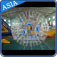 China 0.8mm Pvc Clear Inflatable Water Zorb Ball With Double Entrance For Adult on sale