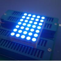 China Digital Time Zone 5x7 Dot Matrix LED Display Ultra Blue1.26 Inch 3mm Long Lifetime on sale