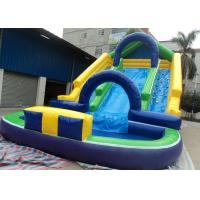 China 0.55mm PVC Inflatable Adult Pool Slides For Amusement Park , Inflatable Water Park on sale