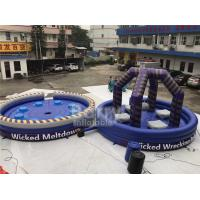 Wholesale Purple Or Custom Made Inflatable Meltdown Rotating Game , Inflatable Last Man Standing Game from china suppliers