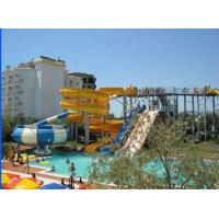 Wholesale Aqua Park Equipment Fiberglass Water Slides , 19m Height Waterpark With Hand Spray-Up from china suppliers