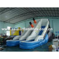 China Hot Sale Inflatable Water Slide With Pool For Aqua Park Games on sale