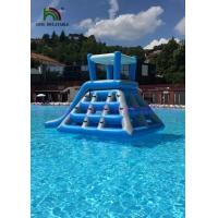 Wholesale Professional Blue White Inflatable Water Toys Climbing Tower Slide With Roof from china suppliers