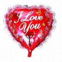 Wholesale 18-inch Heart Valentine Balloons for Party, Wedding, Advertising, Promotions/Gifts Use, Two Colors from china suppliers