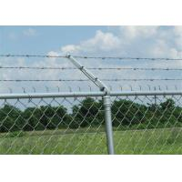 Wholesale Prison ContinuousTwist Galvanized Barbed Wire with Chain Link Fence from china suppliers