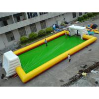 Wholesale Yellow With Blue Inflatable Soap Soccer Field For Commercial Use from china suppliers