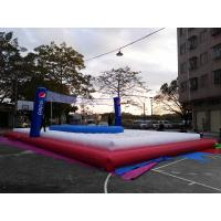 China Inflatable Football Field Volleyball Court  Pvc Tarpaulin With Trampoline on sale