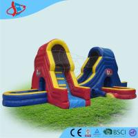 Wholesale Popular Double Lane Giant Inflatable Slip N Slide Blue N Red Crossed from china suppliers
