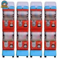 Wholesale Amusement Center Gumball Vending Machine Transparent Ball Box 1-6 Coins from china suppliers