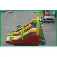 China 5 X 8 Giant Outdoor Commercial Inflatable Bouncer Slide Double Slide on sale