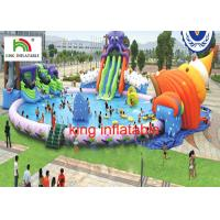 Wholesale 30M diameter Water Park With 3 Awesome Inflatable Water Slides And Other Water Games from china suppliers