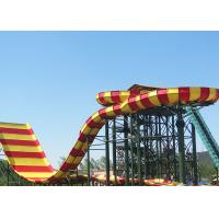 Wholesale Commercial Fiberglass Water Slides , Adult Giant Boomerang Water Park Rides from china suppliers