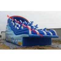 Wholesale large inflatable water slide pool inflatable pool with slide inflatable 8m pool slide from china suppliers