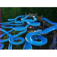 Wholesale Water Attractions Spiral Slide , Fiberglass Water Slides 14.6m Height Customized from china suppliers