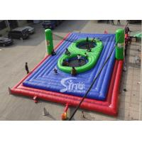 Wholesale Commercial grade adults big inflatable bossaball court with center trampolines for volleyball games from china suppliers