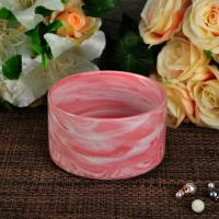 Quality Wedding frosted candle holders , marble candle jar frost finish outside for sale