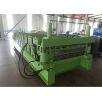 Buy cheap 4Kw IBR Profile Double Layer Sheet Metal Roll Forming Machine Pillars Guide from wholesalers