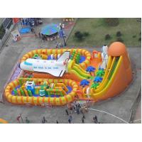 Quality 0.55mmpvc Folder Mesh Inflatable Toy Inflatable Theme Park Inflatable Trampoline for sale
