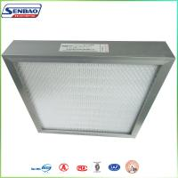 Wholesale Aluminum Frame Hepa H13 H14 High Efficiency Mini Pleated Fiberglass Air Filters from china suppliers