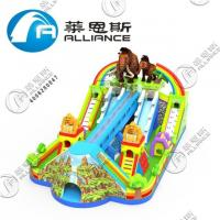 Buy cheap Lead Free Inflatable Bounce Castle With Slide Large Size For Commerce Square from wholesalers