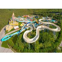 Safety Spiral Theme Park Water Slide For Entertainment Experience