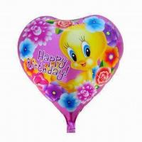 Wholesale 18-inch Heart-shaped Balloon, Made of Nylon Aluminum and PE from china suppliers