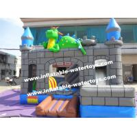 China 0.55mm PVC Kids Blow Up Water Slides , Toddler Inflatable Bouncer on sale