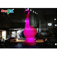 Buy cheap 10m High Giant Inflatable Flamingo Inflatable Cartoon Characters from wholesalers
