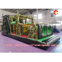 Buy cheap Commercial Giant Adult Inflatable Obstacle Course With 0.55mm PVC Tarpaulin from wholesalers