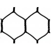 "Quality Garden Fence Black Vinyl Coated Hexagonal Wire Netting With 20 Gauge , 1"" woven mesh for sale"