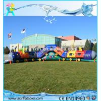 Wholesale Chuggy Choo Choo train bouncer inflatable tunnels for kids inflatable obstacle course from china suppliers