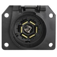 China 7 Way Trailer Electrical Socket 7 Blade Trailer Connector With Cover on sale
