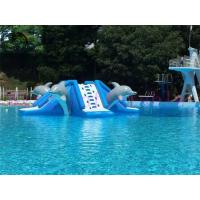 Wholesale Commercial 0.9mm PVC Tarpaulin Inflatable Big Air Slide Dolphin Toy For Water Park from china suppliers