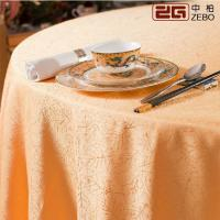 Wholesale 100% Polyester Cotton Decorative Round Fancy Tablecloths For Weddings Customized Size from china suppliers