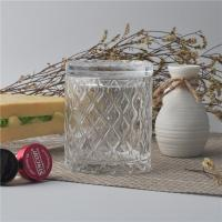 Wholesale Creative decorative glass candle holders with lid set , pattern design from china suppliers