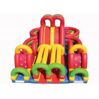 Wholesale Colrful Giant Combo Inflatable Fun City With Slide And Obstacle Course from china suppliers