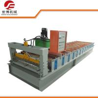 Gray Galvanized Steel Tile Forming Machine , Automatic Roll Forming Machines
