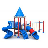 Galvanized steel pipe small size non-toxic castle style outdoor playground for kids TQ-ZR125B