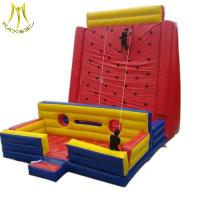 Quality Hansel  Newest PVC Material Inflatable climbing wall bouncer  For adults for sale