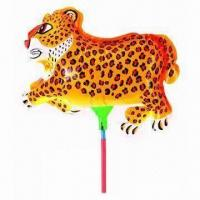 Wholesale Leopard Balloon with Cup Stick, Made of Nylon and PE, Sized 26 x 22cm from china suppliers