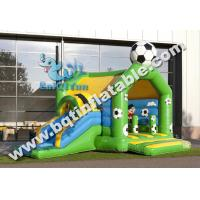 Quality Inflatable Multifun soccer combo,inflatable bounce with slide,inflatable for sale