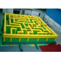 Custom Made Interactive Inflatable Maze , Bounce House Maze Quadruple Stitching