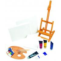 Wholesale 21pcs Art Painting Set With Table Easel / Palette / Canvas / Brushes / Colors from china suppliers