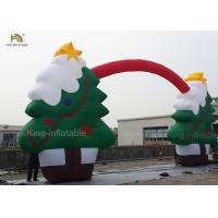 Wholesale Green Color CE Nylon Merry Christmas Tree Inflatable Archway For Santa Claus Xmas Decoration 11m from china suppliers