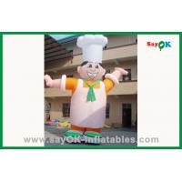 China Custom Outdoor Moving Inflatable Chef Inflatable Cartoon Character For Advertising on sale