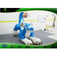 Wholesale Fire - Resistance Inflatable Cartoon Characters , Inflatable Blue Dragon For Riding from china suppliers