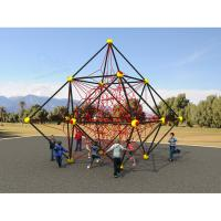 Wholesale EN1176 Polygonal Climbing Frame Equipment , Backyard Playground Equipment Strong Safety from china suppliers