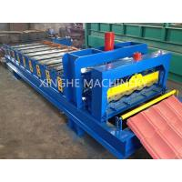 Wholesale Automatic Glazed Tile Roll Forming Machine With 2.5 Ton Capacity Decoiler from china suppliers